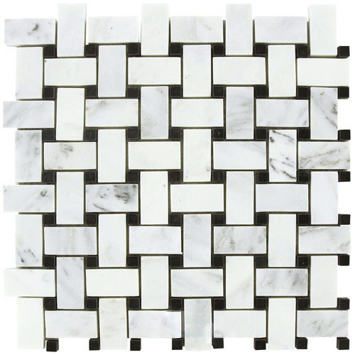 10 Sq Ft. Of  Carrara White 12x12 Basketweave Mosaic