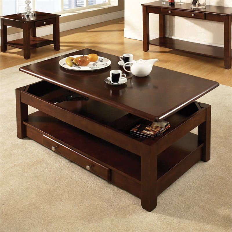 Bowery Hill Lift Top Coffee Table In Cherry Walmart Com