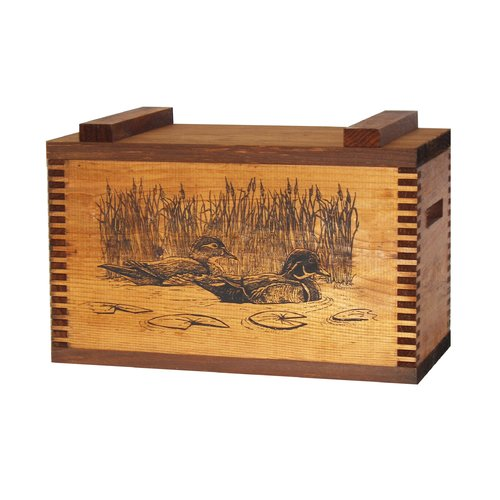Evans Sports Standard Storage Box With Wood Ducks Print