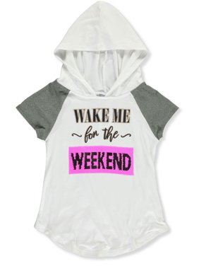 Beautees Girls' Wake Me for the Weekend Flip Sequin Hooded Top