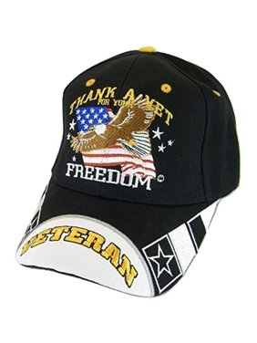 71f54a1d79049 Product Image BVE Sports Novelties USA Flag Men's Patriotic Thank a Veteran  for Your Freedom Baseball Cap (