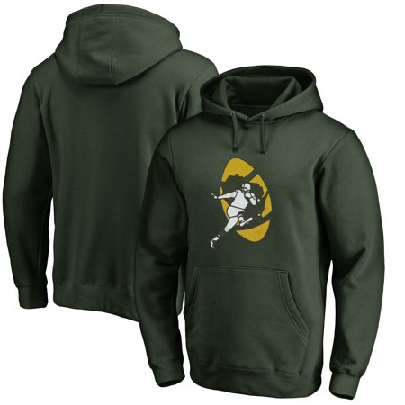 Men's NFL Pro Line Green Green Bay Packers Throwback Logo Pullover  for cheap
