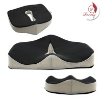 Poraty Coccyx Orthopedic Memory Foam Seat Cushion - Helps With Sciatica Back Pain - Perfect for Your Office Chair and Sitting on the Floor