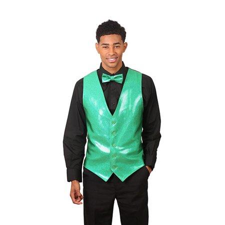 Men's Emerald Green Sparkling Vest