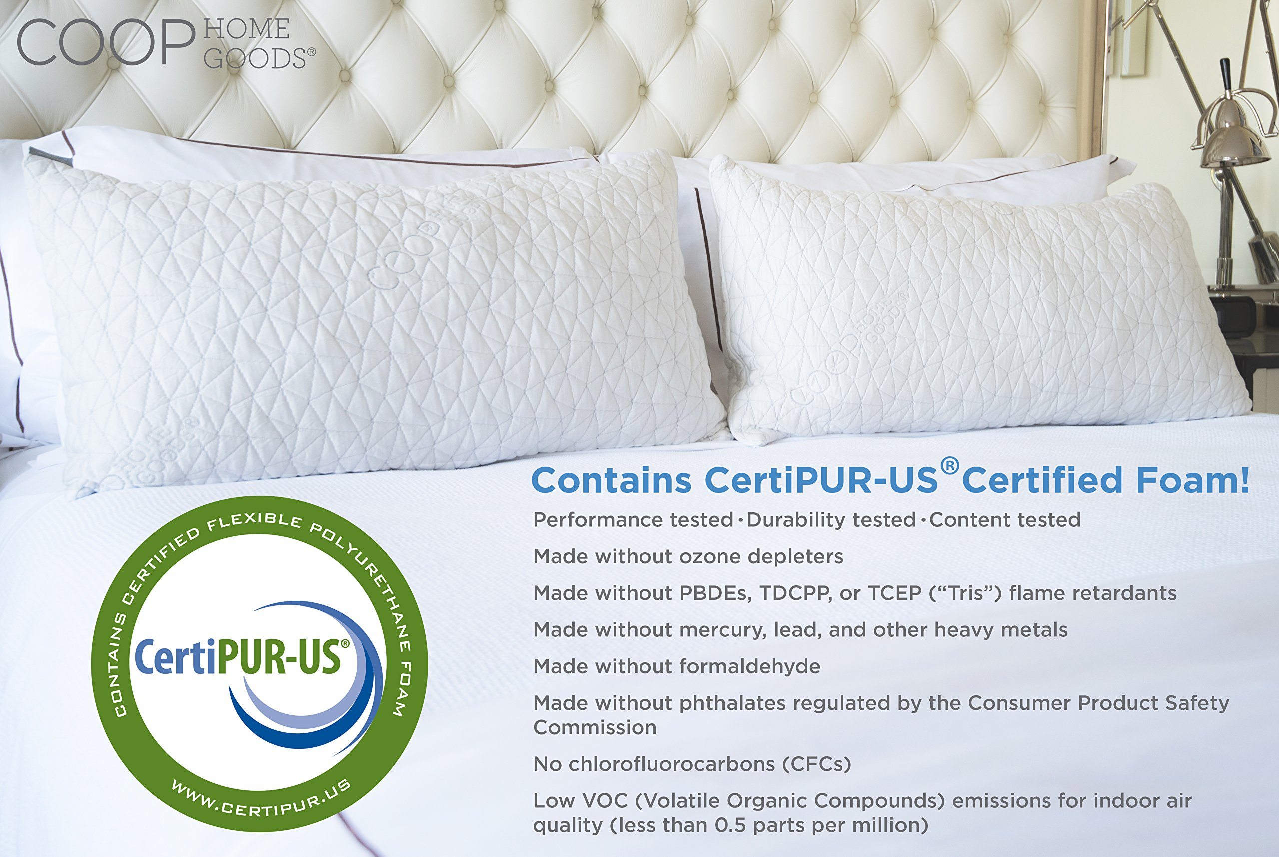 premium home coop memory walmart goods best adjustable selling com loft pillow shredded ip standard foam