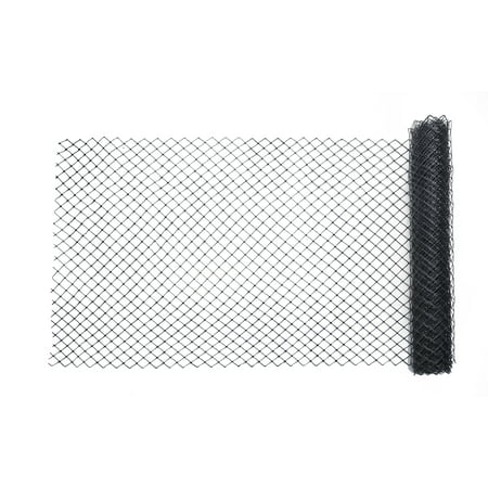 High Density Polyethylene Sheet - High Density Polyethylene (HDPE) Diamond Link Safety Fence, 50 ft. Length x 4 ft. Width, Black