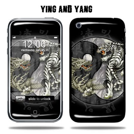 skin decal wrap for apple iphone 3g 8gb 16gb 32gb yingyang. Black Bedroom Furniture Sets. Home Design Ideas