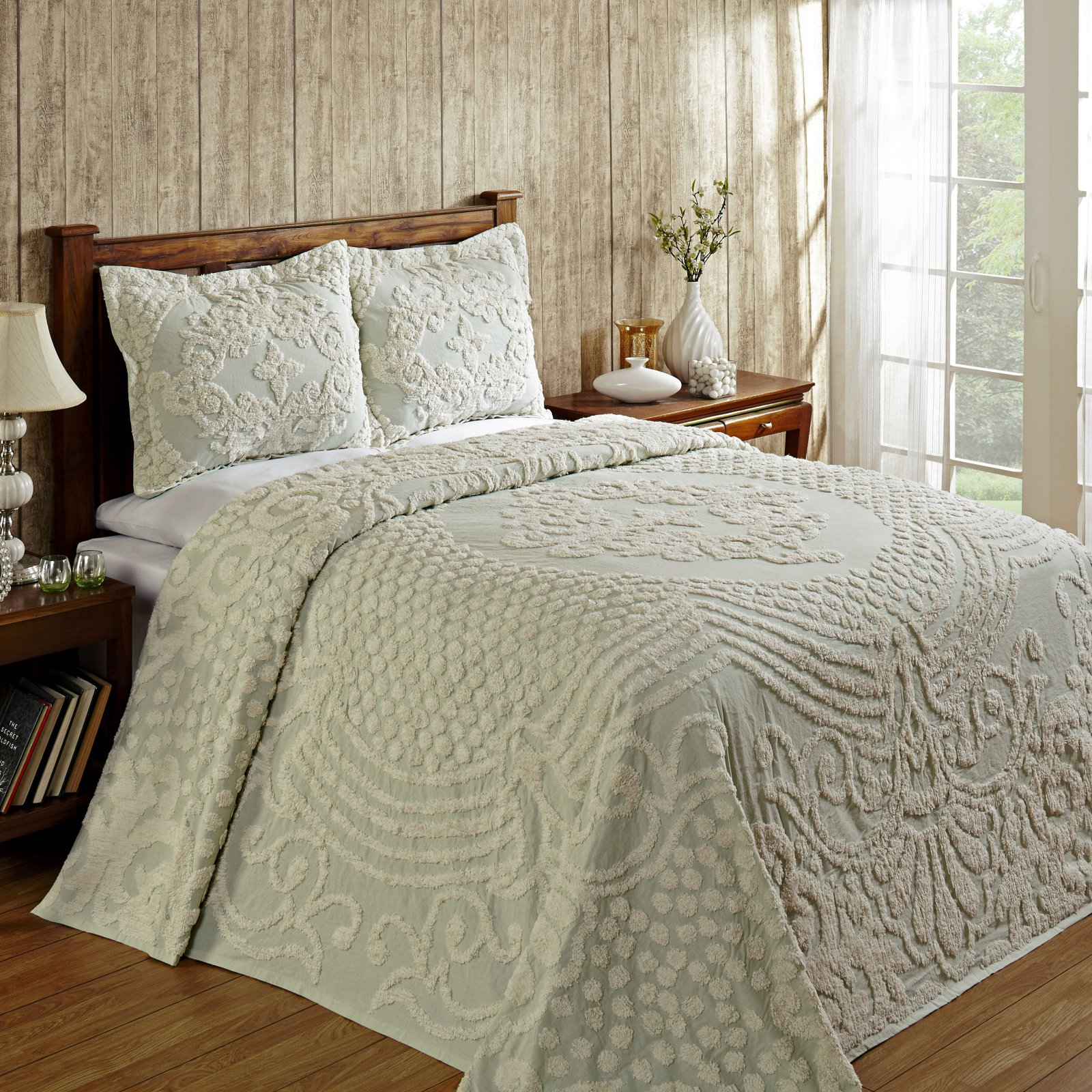 Florence Bedspread Twin 81X110 - Sage