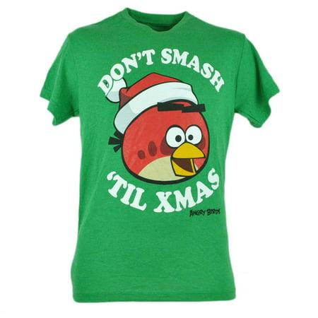 Dont Smash Til Xmas Christmas Graphic Humor Tshirt Tee Green Small