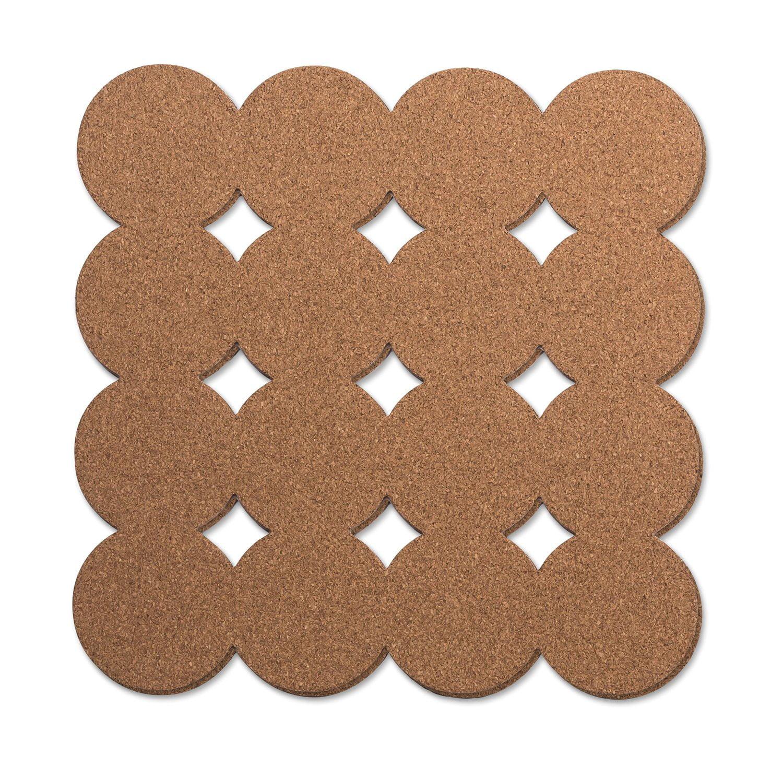 "U Brands Fashion Cork Tiles, 12 x 12"", 2 Ct"