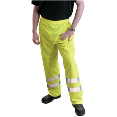 X-Large Yellow OccuLux Polyester Breathable Rain Pants With Snap Front Closure And 3M Scotchlite Reflective Stripe