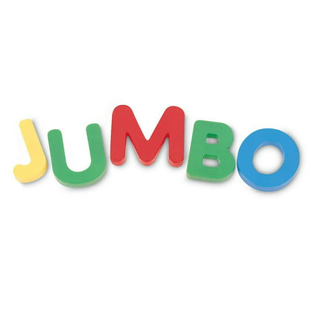 Learning Resources Jumbo Magnetic Uppercase Letters, 40-Piece, Assorted Colors, Ages 3+