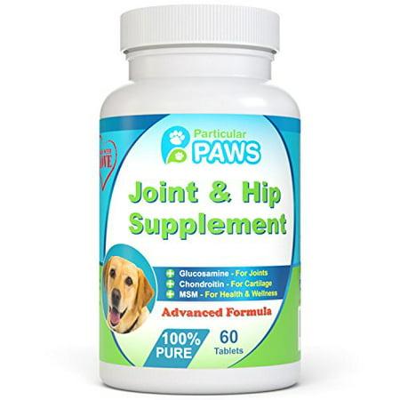 Glucosamine pour chiens Advanced Joint et supplément de la hanche avec MSM, chondroïtine, la vitamine C et E, l'acide hyaluronique, oméga 3 et oméga 6 - 60 comprimés à croquer