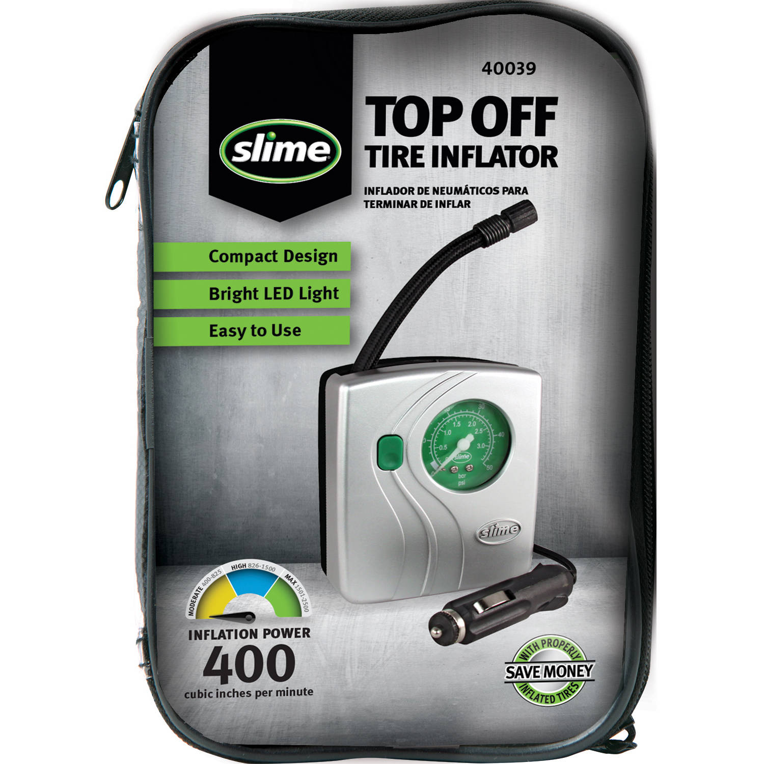 Slime Top Off Tire Inflator