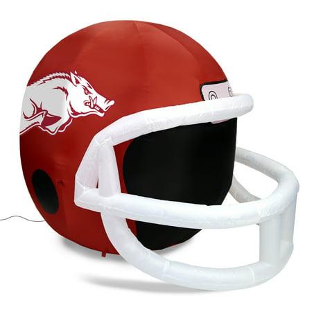 NCAA Arkansas Razorbacks Team Inflatable Lawn Helmet, Red, One Size