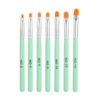 Acrylic Nail Brushes 7PCS UV Gel Poly Gel Nail Art Painting Drawing Pens for Nail Salon Home Use Nail Art Design Tools