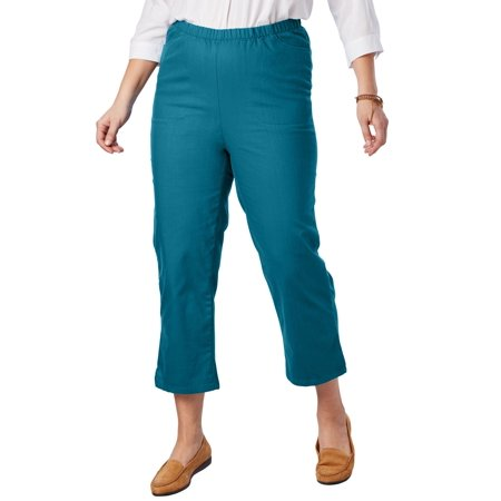 Woman Within Plus Size Capri Fineline Jean ()