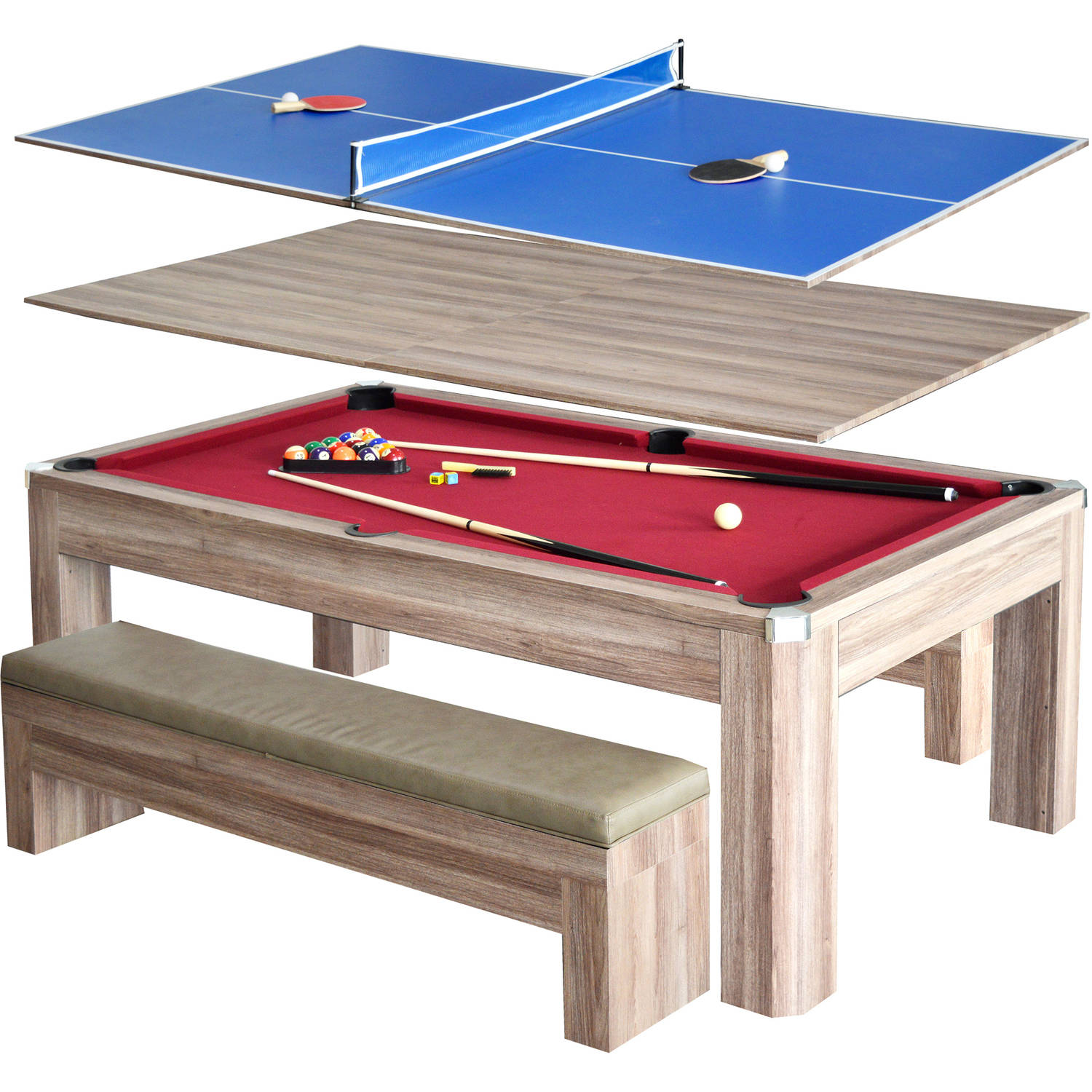 Triumph Sports USA Pool Table With LED Light Walmartcom - Red top pool table