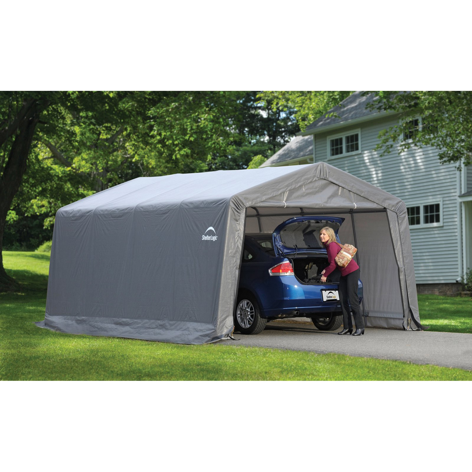 in avec best box carport garage shelterlogic top a idees tarps autoshelter with shelters ideas designs et round canopies of also