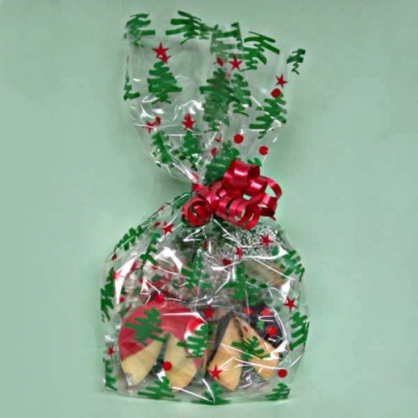 Christmas Fortune Cookies In Christmas Tree Bag