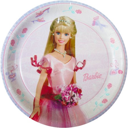 Barbie Party Plates (Barbie 'Enchanting' Small Paper Plates)