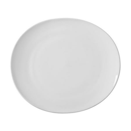 10 Strawberry Street Royal Oval White Dinner Plate in White (Set of 6)