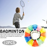 12pcs/set Colorful Training Sport Shuttlecocks Goose Feather Ball Sporting Game Badminton