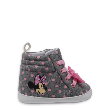 Disney Minnie Mouse Baby Soft Sole 3D High-Top Sneakers (Infant Girls)