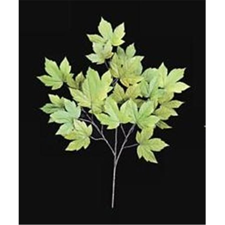 Embroidered Autograph - Autograph Foliages PR-8983 - 29 Inch Fire Retardant Sycamore Branch - Green-Yellow - Dozen