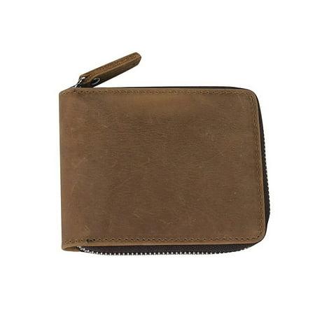 Vagarant Traveler Cowhide Leather Zipper Wallet (Zippered Traveler)