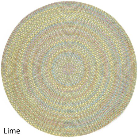 Rhody Rug Playful Indoor Outdoor Reversible Round Braided By 4 Ft