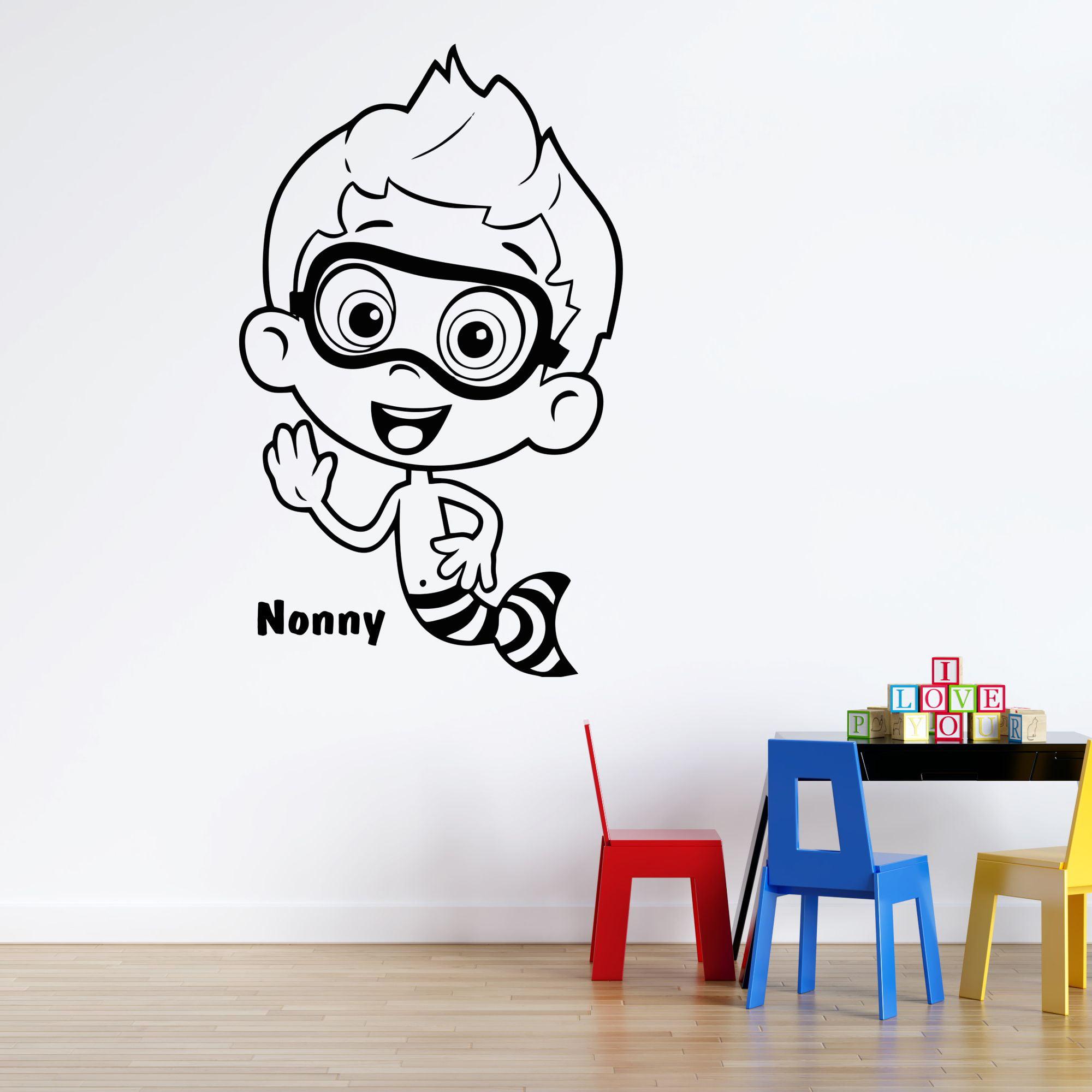 Nonny Bubble Guppies Wall Decal | Kids Bedroom Nursery ...