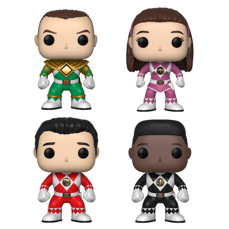 Funko POP! TV Power Rangers Series 7 Collectors Set - Green Ranger (Tommy), Pink Ranger (Kimberly), Red Ranger (Jason), Black Ranger (Zack) (No Helmets)