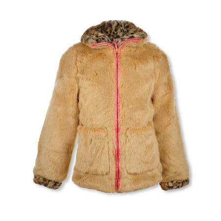 Appaman Coat Sale (Jessica Simpson Girls' Leopard Trim Reversible)