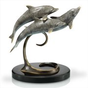 SPI Home 80227 Triple Dolphins on Marble Base
