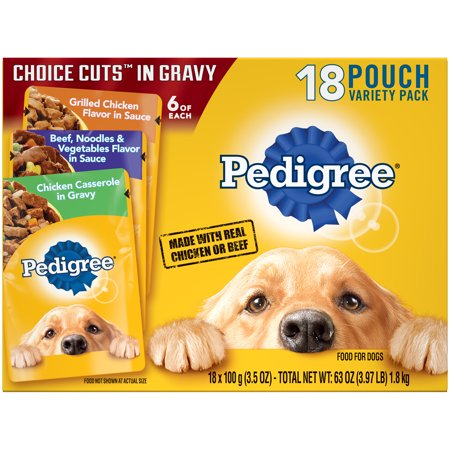 Pedigree Choice Cuts in Gravy Adult Wet Dog Food Variety Pack, (18) 3.5 oz.