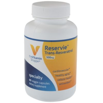 The Vitamin Shoppe Reservie Trans Resveratrol 500mg Antioxidant