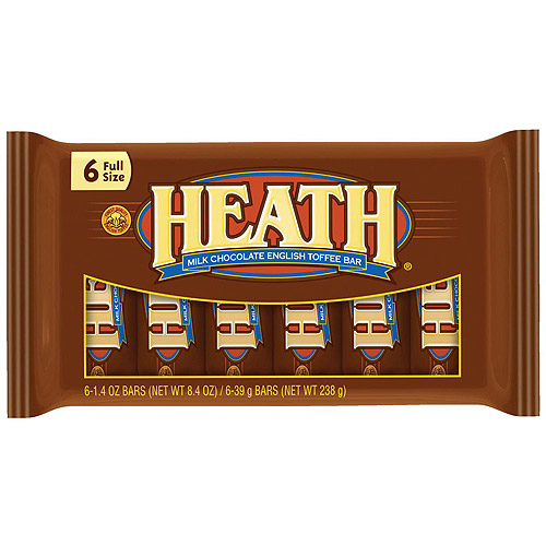 Heath English Toffee Milk Chocolate, 6 Ct