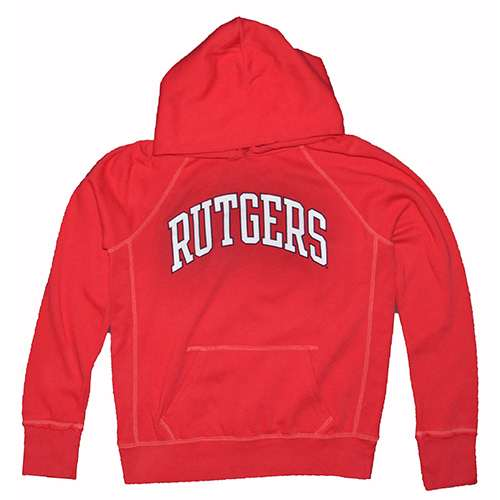 Rutgers Scarlet Knights Hooded Sweatshirt - Ladies Hoody By League - Red