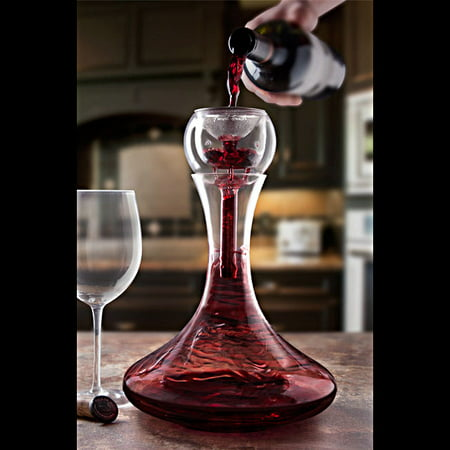 Trevi aerating wine decanter for Wine carafes and decanters