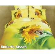 Queen Bed Modern Bedding Floral Duvet Cover Set Dolce Mela DM428Q