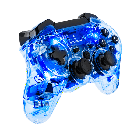 PDP Afterglow PS3 Wireless Controller, Blue, 064-015-NA-BL (Ps3 Controller Rainbow)
