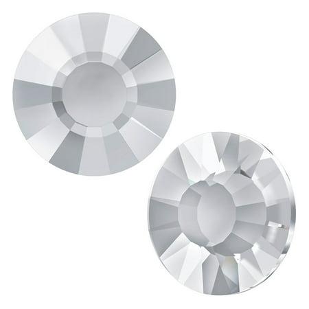 Ss10 Crystal - Swarovski Crystal, Low Profile Round Flatback Rhinestone Hotfix SS10 3mm, 36 Pieces, Crystal F