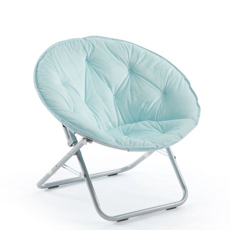 Urban Shop Adult Micromink Saucer Chair, Available in Multiple Colors