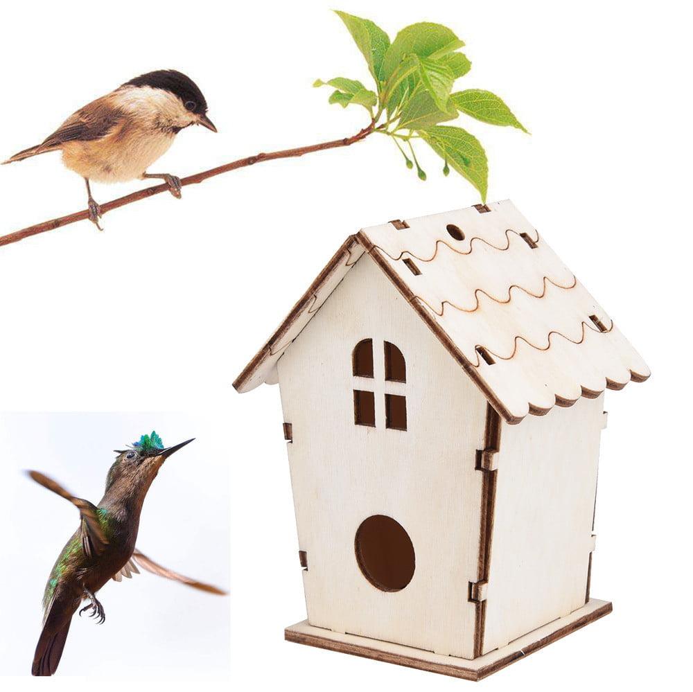 Outtop DIY Nest Dox Nest House Bird House Bird House Bird Box Bird Box Wooden Box