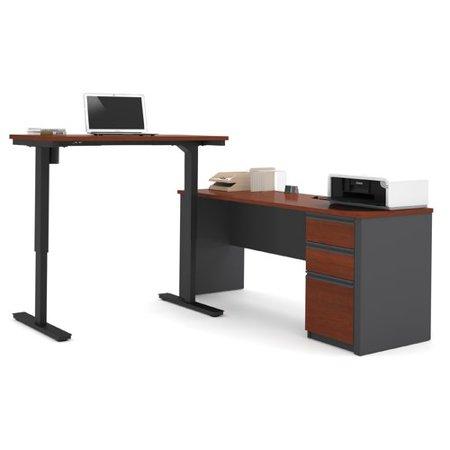 best service e736b 63be5 Red Barrel Studio Bormann L-Shape Standing Desk with Height ...