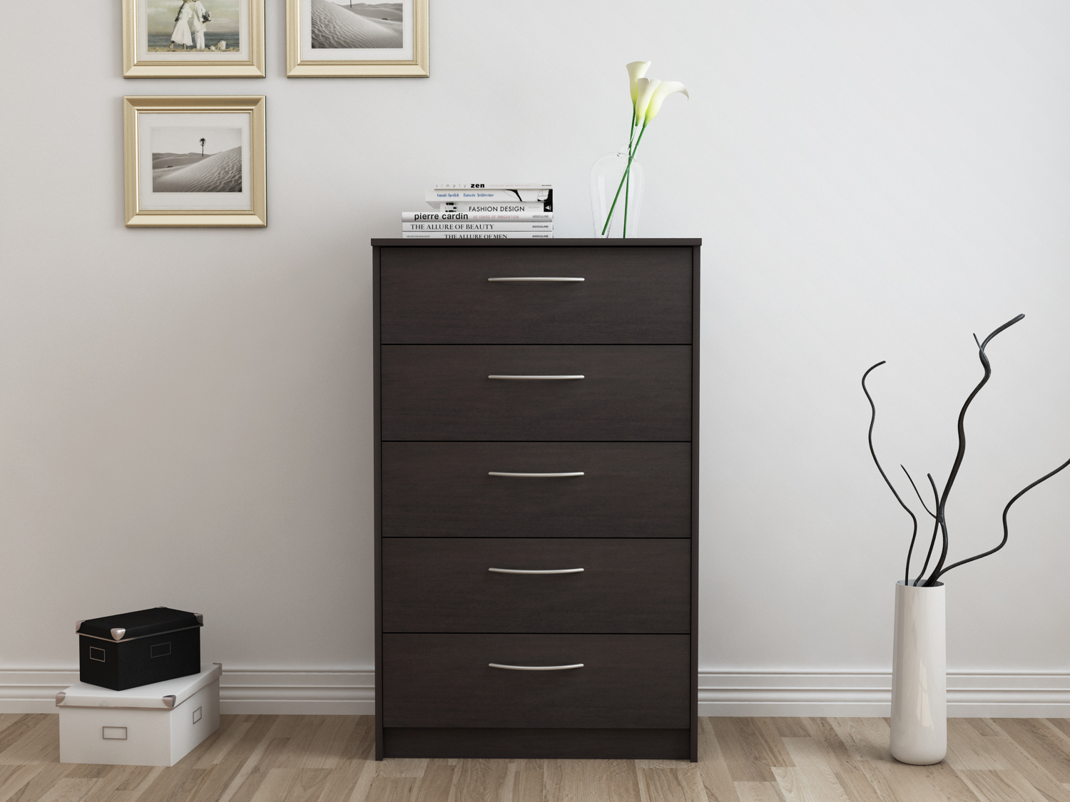 Homestar Finch Collection 5-Drawer Dresser, Multiple Finishes by HOMESTAR NORTH AMERICA LLC