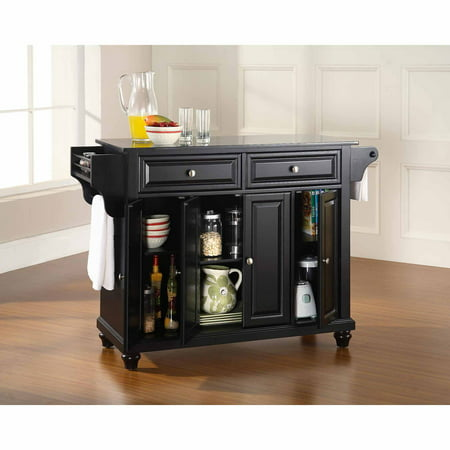 Granite Top Kitchen Island (Crosley Furniture Cambridge Solid Black Granite Top Kitchen Island )