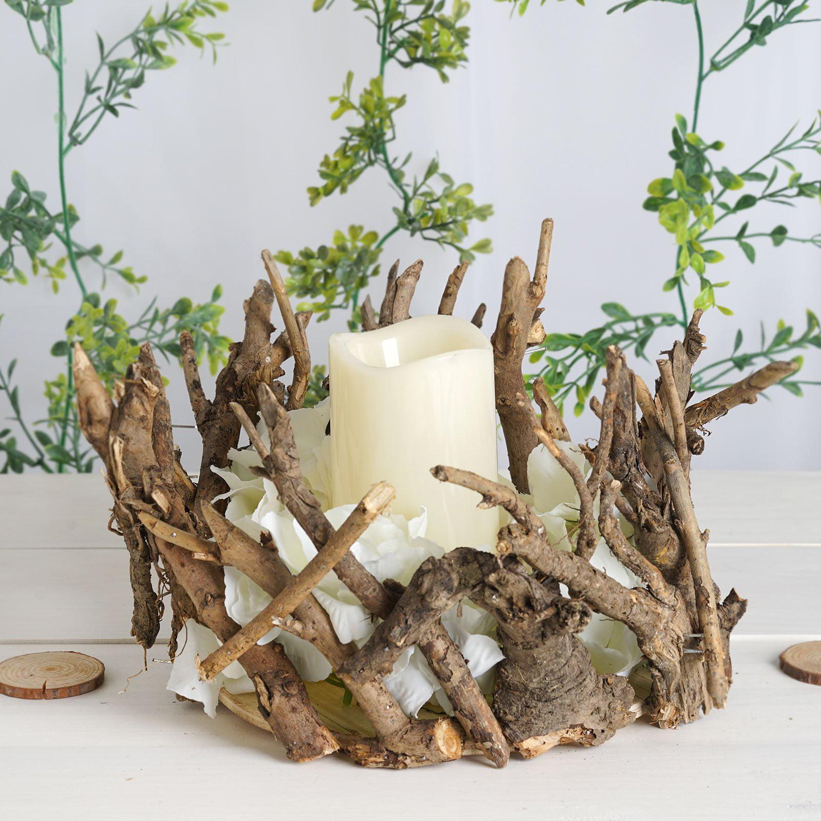 Efavormart Natural Wood Candle Holder Wooden Mini Flower Vase Rustic Wedding Centerpiece Rustic Wedding Centerpiece Walmart Com Walmart Com