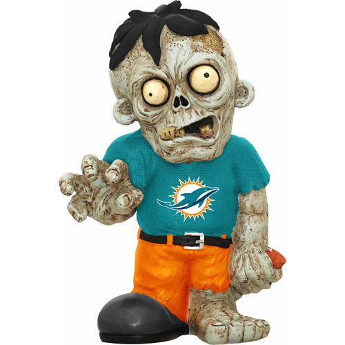 Forever Collectibles NFL Resin Zombie Figurine, Miami Dolphins